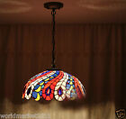 16 Inches European Style Colourful Glass Droplight H 19 CM 2 Lights Chandelier