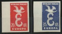 1958 France N°1173 + 1174 BDF Europa Non dentelés Neufs luxe** COTE 155€ D1438
