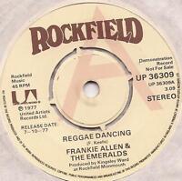 "Frankie Allen & The Emeralds Reggae Dancing 7"" Vinyl Single Demo"