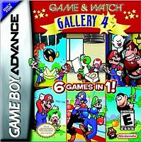 GAME AND WATCH GALLERY 4 GAME BOY ADVANCE GBA COSMETIC WEAR