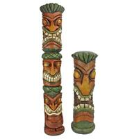 Design Toscano Aloha Hawaii Tiki Sculpture: Set of two