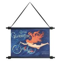 Design Toscano Gladiator Cycles Canvas Wall Scroll