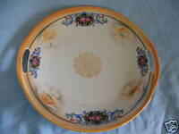 Beautiful Bavaria GERMANY FLORAL HANDLED PLATE PLATTER ★FREE SHIPPING★