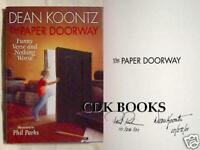 DEAN KOONTZ THE PAPER DOORWAY SIGNED X2 DATED X2 1st EDITION