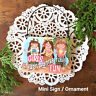 DECO Mini Sign Ornament HULA GIRLS SIGN Hawaii Hawaiiana Hawaiian Dance Island