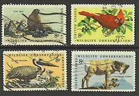 Scott #1464-67  Used Set of 4 Wildlife Conservation