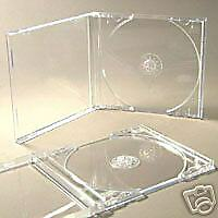 50 CD JEWEL CASES COMPLETE WITH CLEAR TRAYS & 24H DEL