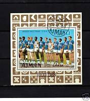 M/S, S/S OF STAMPS FROM AJMAN USA BASKETBALL TEAM 1969
