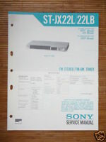 Service Manual Sony ST-JX22L Tuner,ORIGINAL