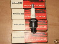 4 BOUGIES ALLUMAGE NEUVES RENAULT ALPINE A110 18 R18 TURBO MOTORCRAFT REF AG1