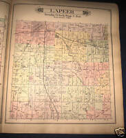 LAPEER TOWNSHIP, LAPEER COUNTY, MICHIGAN PLAT MAP 1893