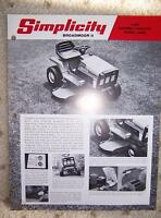 Simplicity Broadmoor II 8 HP Riding Mower 6008 Promo M