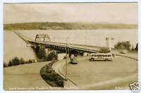 Real Photo Postcard RPPC Lake Washington Floating Bridge Seattle WA