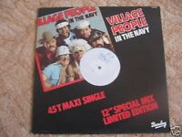 MAXI SP TEST PRESSING VILLAGE PEOPLE - IN THE NAVY / excellent état