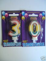 30th Birthday Cake Candles (Multi) Party(RR AA)*