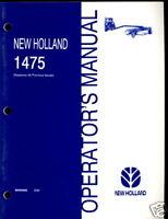 NEW HOLLAND OPERATOR`S MANUAL 1475 PIVOT TONGUE FRAME