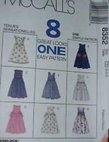 8352 Vintage McCalls SEWING Pattern Girls EASY Jumper 8 Great Looks UNCUT Summer