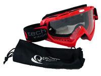 TEAR Off GOGGLES Motocross Enduro Honda for MX Helmet - RED