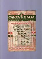 carta d italia touring club italiano- salerno - 1909
