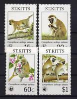 WWF St. Kitts 184/87 postfrisch .......................