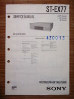 Service Manual Sony ST-EX77 Tuner,ORIGINAL