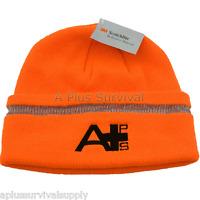 A Plus Survival 3M Safety Beanie Bright Orange Reflective Strip Search & Rescue