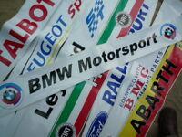 BMW Motorsport Gunsight Screentop Sunstrip visor decal