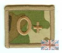 New Crye Multicam Velcro BLOOD GROUP PATCH O POS (UBACS