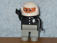 Lego Duplo Polizei Figur: Polizist mit Integralhelm