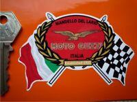 MOTO GUZZI Flags/Scroll helmet or motorcycle sticker