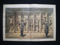 OLD LITHO PRINT - TOM MERRY POLITICAL CARTOON 1886