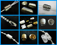 Blind & light pull cord connectors & beaded roller metal plastic chain joiners