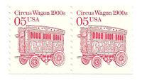SC#2452 5c Circus Wagons Coil Pair MNH