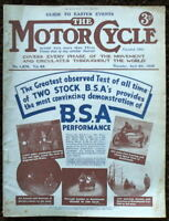 THE MOTORCYCLE MAGAZINE-GUIDE TO EASTER EVENTS, 6 APR 1939 -VOL. 62