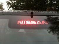 """YOUR NAME/LOGO"" NISSAN ALMERA Tino 3rd BRAKE LIGHT STICKER/OVERLAY"