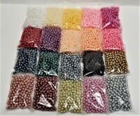 200 Wachsperlen 6mm Farbwahl Perlen Tischdeko Hochzeit Perlensterne Drahtsterne
