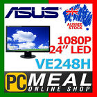"Asus LED VE248H 24"" WideScreen Speaker 2ms 1080 HDMI DVI VGA Full HD LCD Monitor"