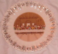 "Collectible Plate Lord's Supper 1st First Edition Sanders 9.5"" Gold Leaf Trim"