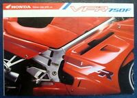 HONDA VFR 750F MOTORCYCLE Sales Brochure Dec 1991