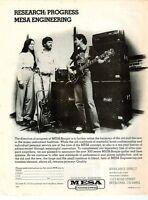 CARLOS SANTANA in a vtg 80's MESA BOOGIE PINUP PRINT AD Guitar Amp Amplifier