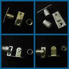 Curtain rod sockets - Brackets for 8mm diameter net rods tube in Chrome & brass
