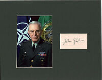 John Galvin Signed Matted with photo COA 1211