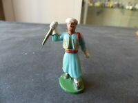FIGURINE STARLUX ARMEE D'AFRIQUE COIFFE BLANCHE MUSICIEN CYMBALLES