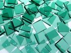 SEA GREEN ROUGH ROLLED handcut stained glass mosaic tiles #379