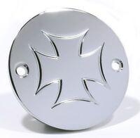 Zündungsdeckel Pointcover Iron Cross Malteser für Harley Evo Sportster Shovel HD