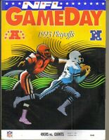 January 15, 1994 Giants vs 49ers Divisional Playoff Gameday Program