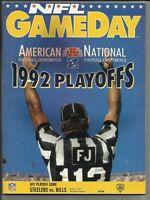 January 9, 1993 Steelers vs Bills Divisional Playoff Gameday Program