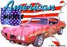 1970 Red Pontiac GTO JUDGE Custom Hot Rod USA T-Shirt 70, Muscle Car Tee's
