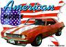 1969 Orange Chevy Camaro a Custom Hot Rod USA T-Shirt 69, Muscle Car Tee's