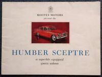 HUMBER SCEPTRE Sports Saloon Car Sales Brochure c1965 #1083/H